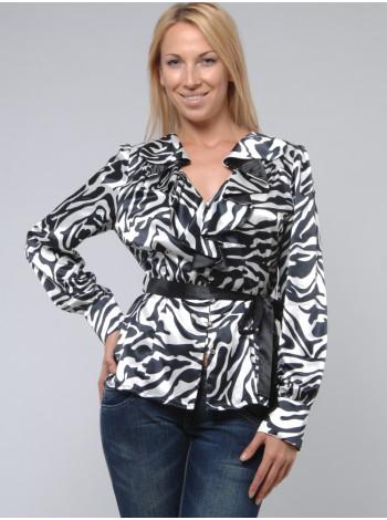 Блуза Eveline 48 Чорно-біла blz018/3_eu
