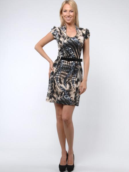 Платье Fervente 42 Черно-желтое plt004/36_eu