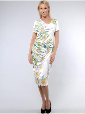 Сукня Geneze 48 Біло-зелена plt015/42_eu