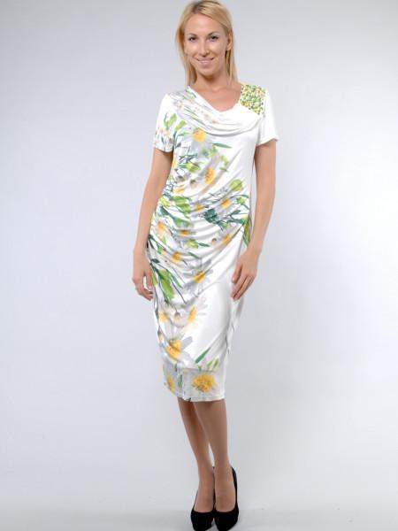 Платье Geneze 48 Бело-зеленое plt015/42_eu
