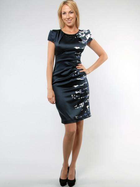 Сукня Eveline 42 Чорно-синя plt017/36_eu