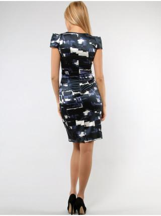 Платье Eveline 42 Черное-синее plt017/36_eu
