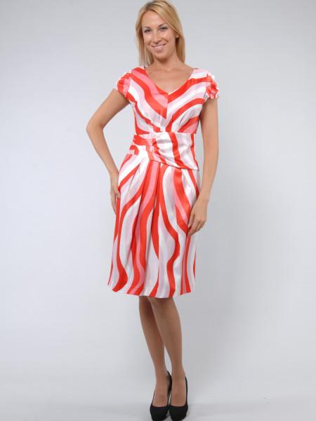 Платье Eveline  46 Оранжевое plt026/40_eu