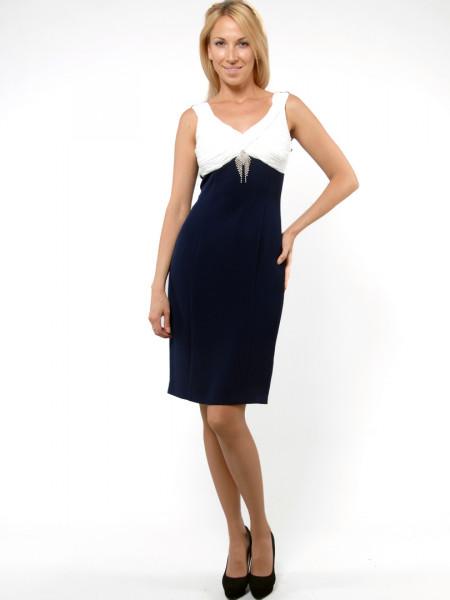 Платье Eveline  44 Сине-белое plt027/38_eu