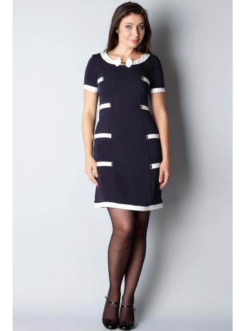 Платье Eveline 44 Сине-белое plt081/38_eu