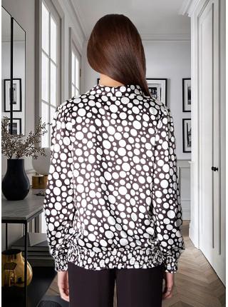 Блуза Abak 46 Чорно-біла blz072/S_eu