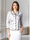 Блуза Fellinaz 46 Черно-біла blz094/2_eu