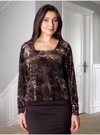 Блуза Ali Yavuz 52 Чорно-коричнева blz143/46_eu