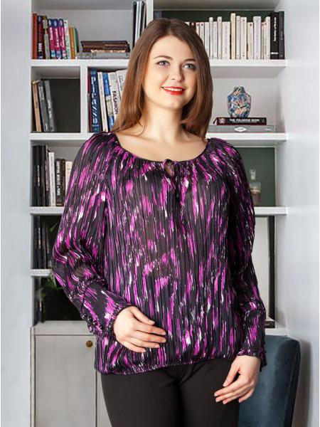 Блуза Eveline 52 Чорно-бузковий blz144/4_eu
