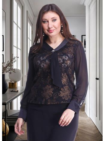 Блуза Fellinaz 48 Черно-золота blz171/2_eu