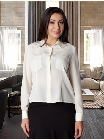 Блуза Abak 48 Кремова blz028 / L_eu