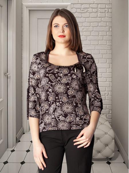 Блуза Markiza 50 Коричнєва blz059/3X_eu