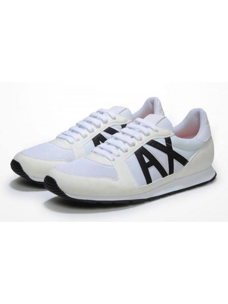 Кроссовки A|X Armani Exchange Retro Running Sneakers 11US Белые arm001