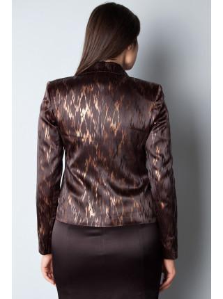 Пиджак Izzet 44 Черно-коричневый pjk031/38_eu