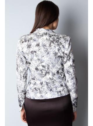 Пиджак Izzet 46 Бело-черный мрамор pjk008/40_eu