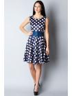 Платье Fervente 46 Сине-белое plt086/40_eu