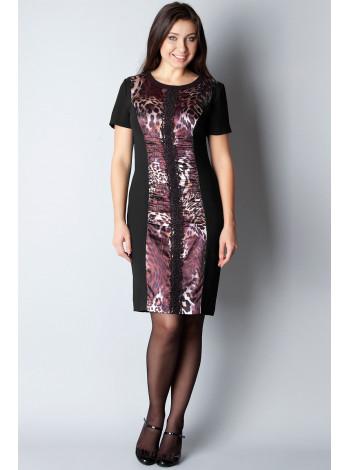 Платье Eveline 50 Черно-рыжее plt084/44_eu
