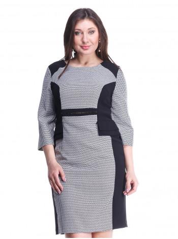 Сукня Eveline 50 Сіро-чорна plt078/44_eu