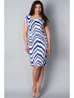 Платье Eveline 48 Бело-синее plt063/42_eu