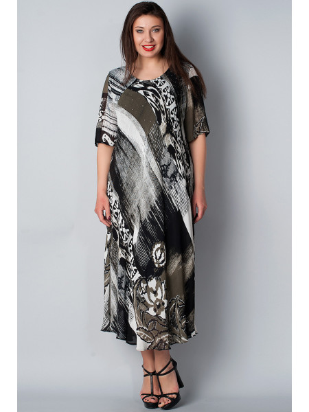 Сукня Dolce Bella 54 Чорно-зелена plt058/L_eu