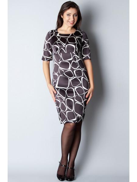 Платье Reglan 44 Черно-белое plt052/38_eu