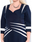 Сукня Eveline  52 Синьо-біла plt042/46_eu