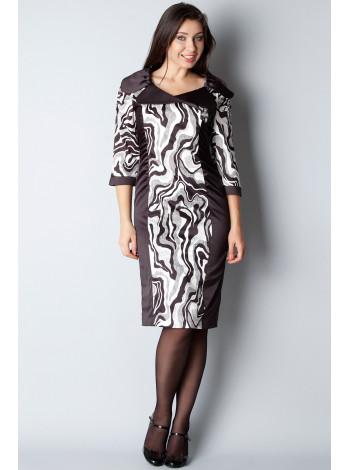 Платье Eveline  48 Черно-белое plt034/42_eu