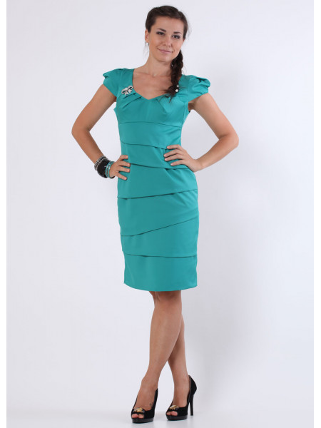 Платье Eveline  44 Бирюзовое plt021/38_eu