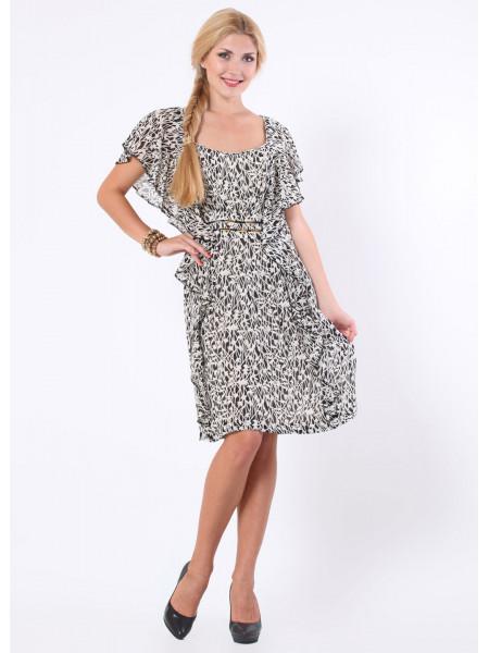 Платье Eveline 48 Черно-белое plt019/42_eu