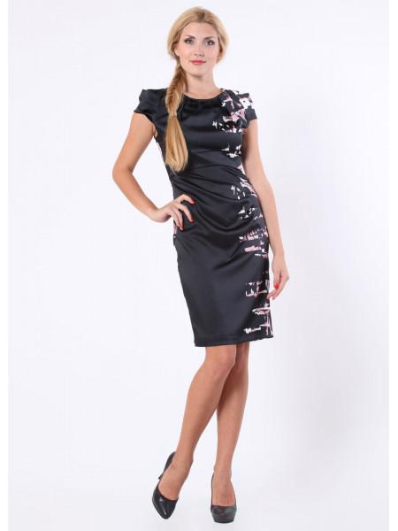 Платье Eveline 42 Черное-розовое plt016/36_eu