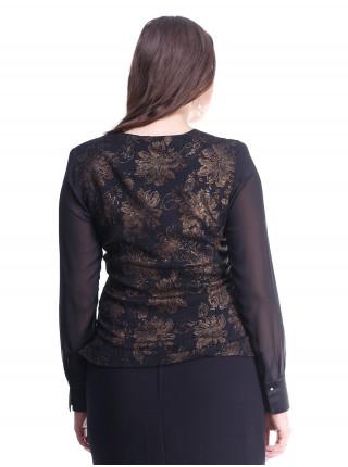 Блуза Fellinaz 48 Черно-золотая blz171/2_eu