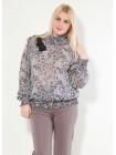 Блуза Fervente 48 Серо-розовая blz148/42_eu