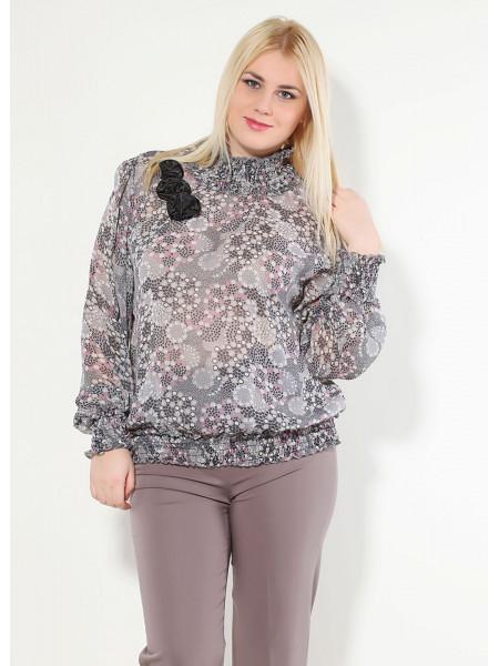 Блуза Fervente 48 Сіро-рожева blz148/42_eu
