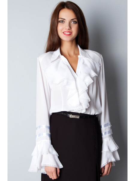 Блуза Abak 46 Біла blz137/M_eu
