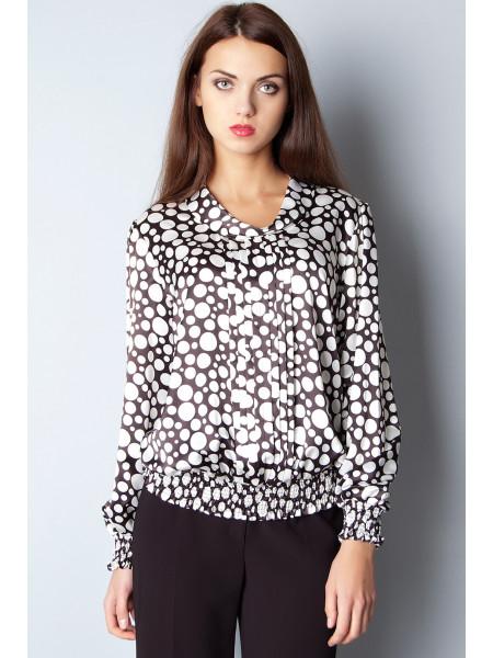 Блуза Abak  46 Черно-белая blz072/S_eu