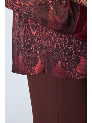 Блуза Fellinaz  54 Бордовая blz065/5_eu