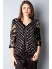Блуза Monica 54 Чорно-бежева blz060/5X_eu