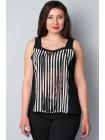 Блуза Mandis 52 Чорно-біла blz057/XL_eu