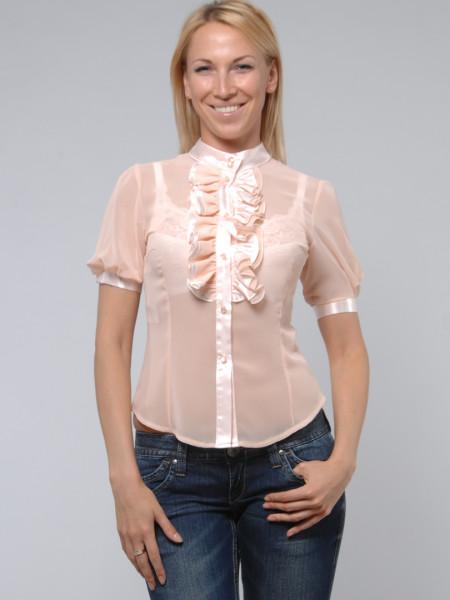 Блуза Iremoda 48 Персикова blz030/42_eu