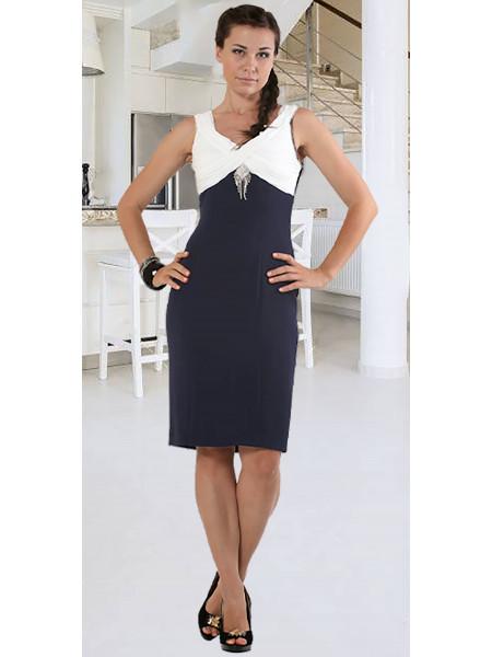 Сукня Eveline  44 Синьо-біла plt027/38_eu