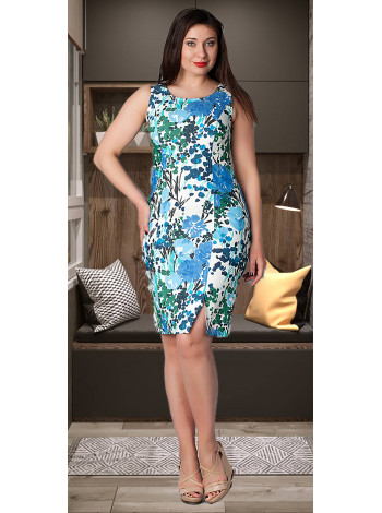 Сукня Reglan 46 Біло-синя plt056/40_eu
