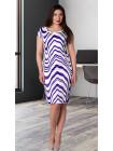 Сукня Eveline 48 Біло-синя plt063/42_eu