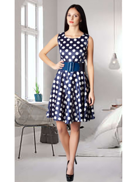 Сукня Fervente 46 Синьо-біла plt086/40_eu