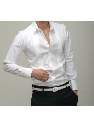 Рубашка Haoyu S Белая rub001